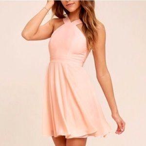 Lulu's Forevermore Light Pink Skater Dress